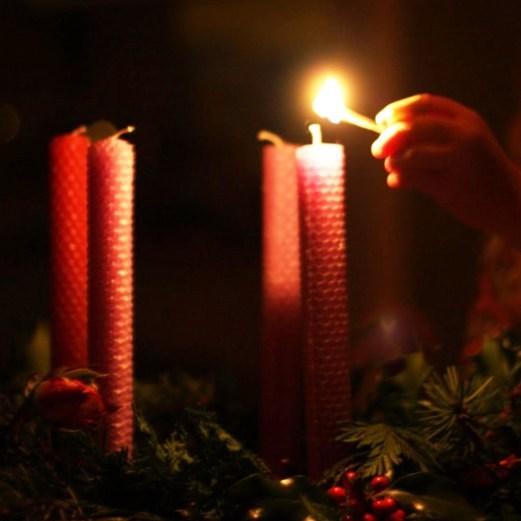 первая свеча в воскресенье перед рождеством